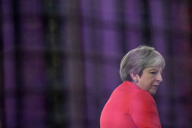 CONTROVERSY. Britain's Prime Minister Theresa May is seen during a BBC television interview ahead of the Conservative Party Conference 2018, in Birmingham on September 30, 2018. Photo by Ben Stansall/AFP