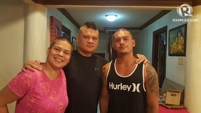 THEIR FATHER'S CHILDREN. (From left) Former Mayor Sara Duterte Carpio, current Vice Mayor Paolo, and Sebastian shave their their heads October 27 in support of whatever decision their father, Davao Mayor Rodrigo Duterte, makes about seeking the presidency in 2016. File photo by Editha Caduaya/Rappler