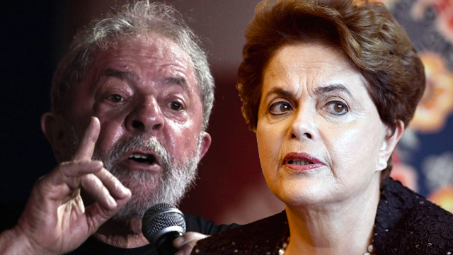 FORMER PRESIDENTS. Former presidents of Brazil Luiz Inacio Lula da Silva and Dilma Rousseff are accused of allegedly accepting bribes. Lula file photo by Miguel Schincariol, Rousseff photo by Evaristo Sa/AFP
