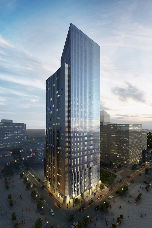 LEED, BERDE CERTIFIED. A graphic rendition of the ArthaLand Century Pacific Tower