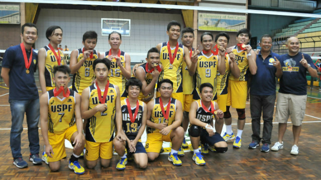 CHAMPS AT LAST. The University of Southern Philippines Foundation (USP-F) Baby Panthers end an 8-year secondary boys title drought. Photo by PJ Estan/Rappler