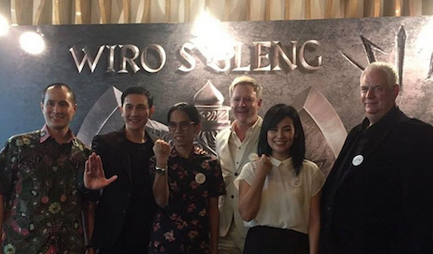 Suasana setelah press conference film 'Wiro Sableng 212 (212 Warrior)' di hotel JS Luwanca, Kuningan, Jakarta Selatang, Kamis, 9 Februari. Foto dari akun Instagram Sheila Timothy.