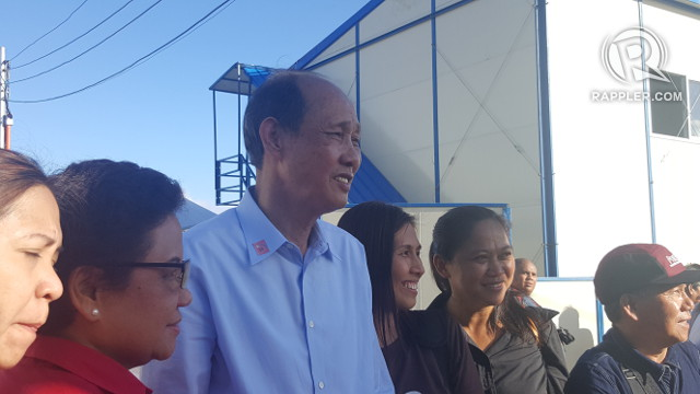 'GOOD SAMARITAN.' Chinese tycoon Huang Rulun poses for a photo during the inauguration of the mega drug rehabilitation center. Photo by Pia Ranada/Rappler