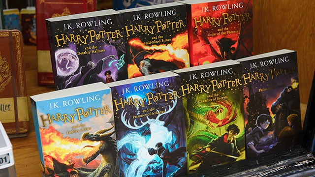 BANNED. J.K. Rowling's 'Harry Potter' series was removed from a Catholic school library in Tennessee. Photo from Shutterstock