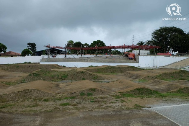 EXTREME SPORTS. The spectator area and the BMX track in Tagaytay City still looks rough. Photo by Beatrice Go/Rappler