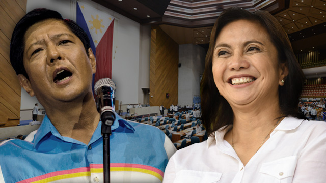 HOMESTRETCH. After weeks of exchanges and accusations, the battle between Bongbong Marcos and Leni Robredo will finally be settled as Congress convenes to canvass the votes for president and vice president.