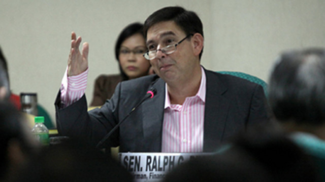 BIG SPENDER. Senator Ralph Recto spent P99.9 million during his 2013 senatorial campaign. File photo by Alex Nuevaespau00f1a/Senate PRIB
