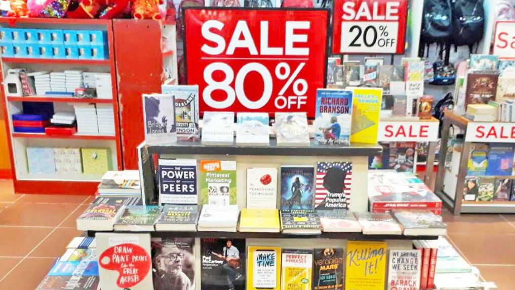 WAREHOUSE SALE. National Book Store is offering up to 80% off on books, toys, games, and supplies this March. Photo from National Book Store's Facebook page