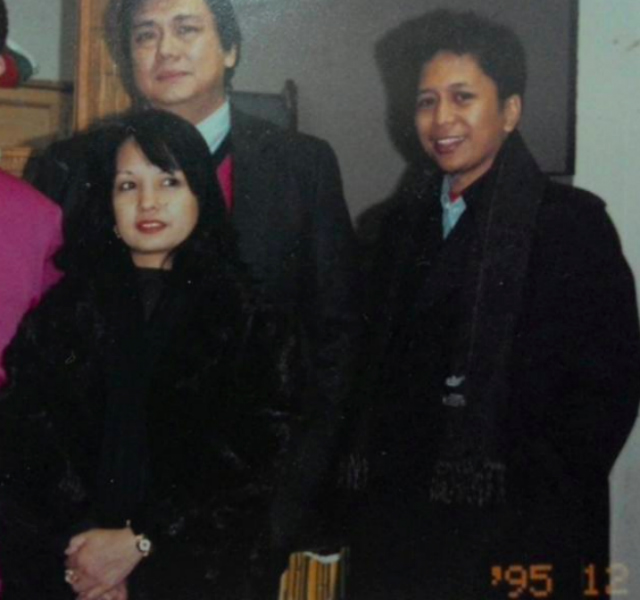 ABROAD. Albao with former president Gloria Macapagal Arroyo and former first gentleman Mike Arroyo. Photo from Facebook