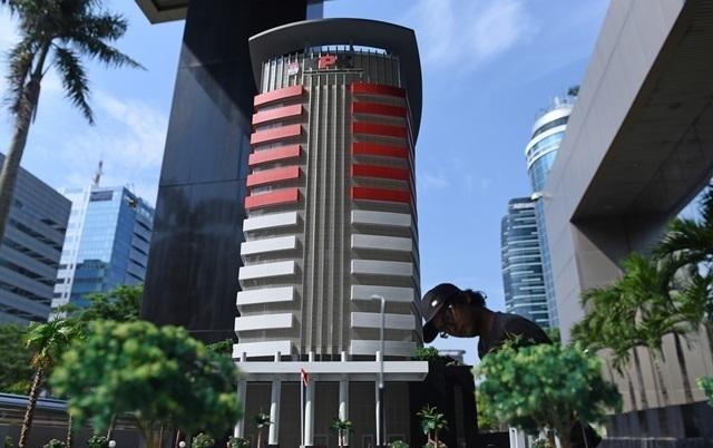 Maket Gedung KPK. Foto oleh Hafidz Mubarak A/Antara