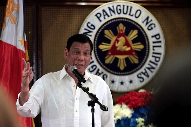 TARGET. President Rodrigo Duterte has repeatedly threatened the Philippine Daily Inquirer. File photo from Malacau00f1ang PPD