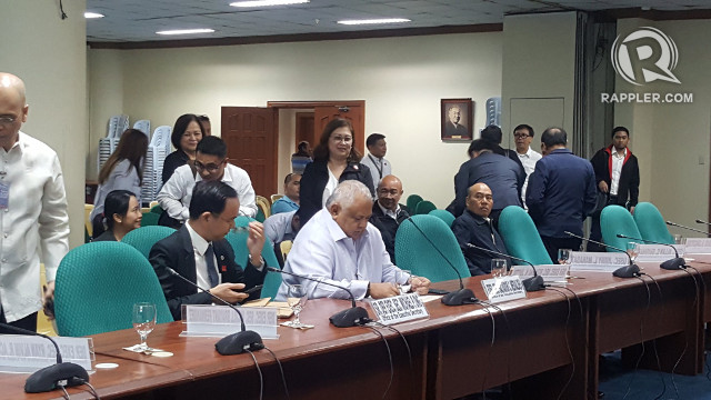 2019 BUDGET. Executive Secretary Salvador Medialdea represents the Office of the President during its Senate budget hearing. Photo by Pia Ranada/Rappler