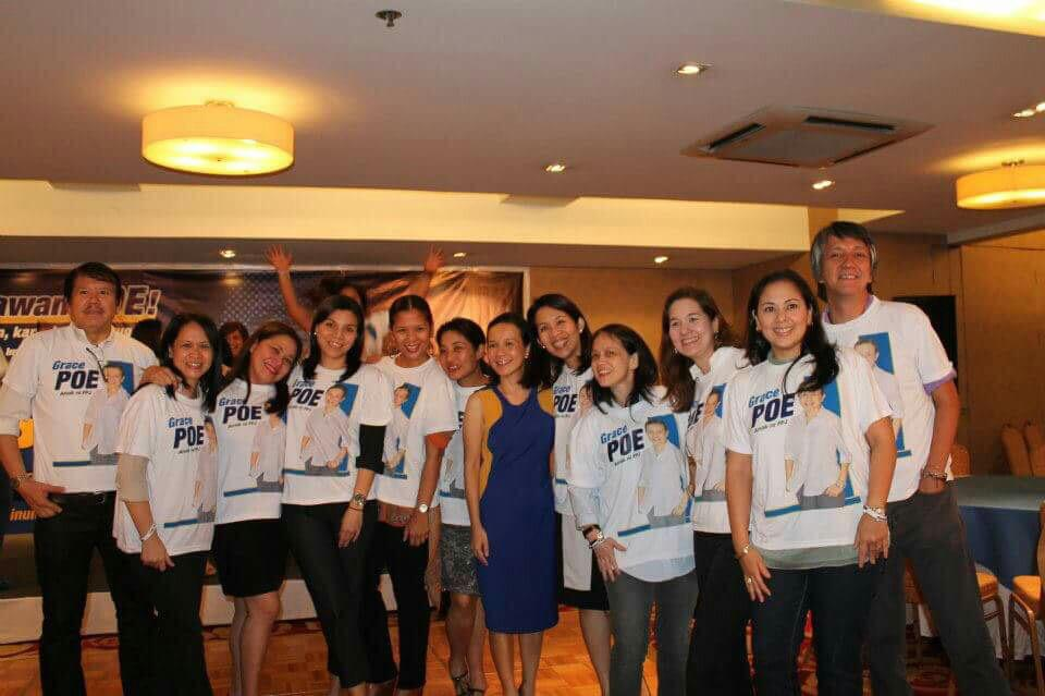 2013. The same people also supported Poe in her 2013 senatorial bid. Photo by Malu Gamboa