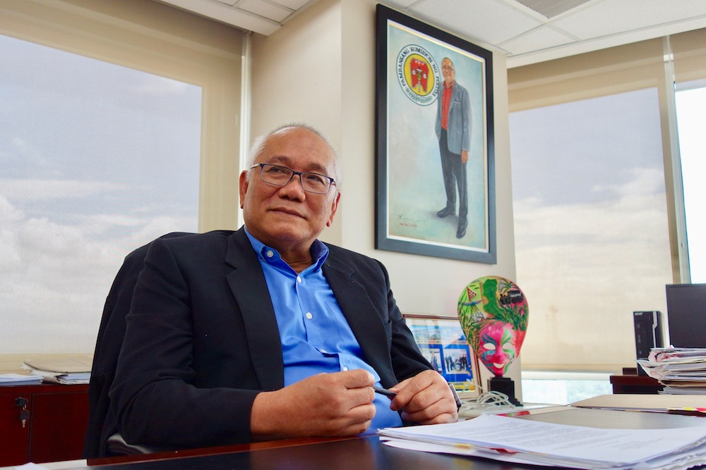CLEANER PNP. Napolcom Vice Chairman Rogelio Casurao at his office in Quezon City. Photo by Rambo Talabong/Rappler