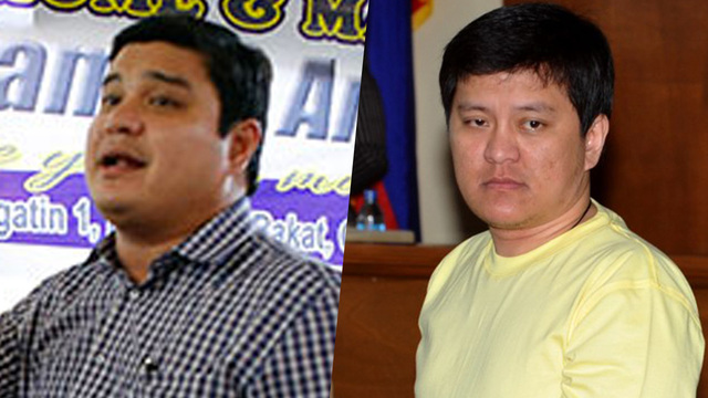 GRAFT CASE. The Sandiganbayan says prosecutors presented enough evidence against Ampatuan brothers Sajid (left) and Andal Jr.