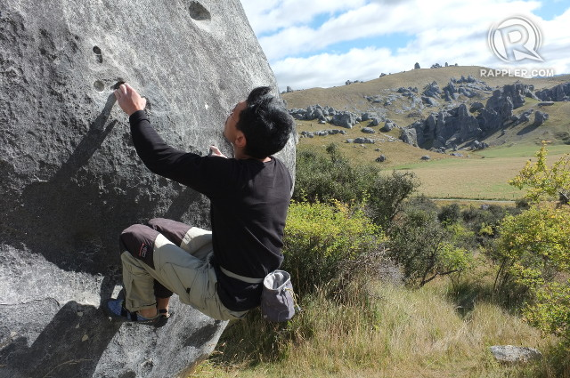 ROCK TRIP. The Castle Hill boulder area is part of the Great Alpine Highway