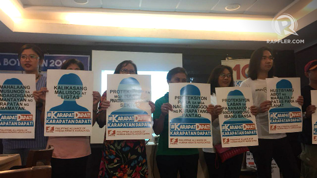 CHANGE. Human rights advocates call on candidates to adopt a rights-based governance in their platforms. Photo by Jodesz Gavilan/Rappler