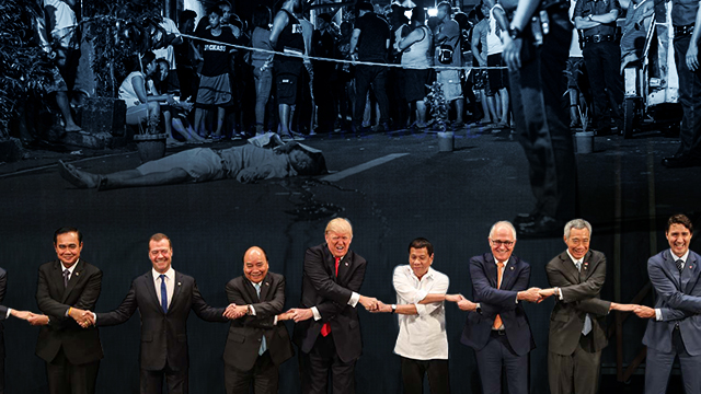 HUMAN RIGHTS? Human rights and the drug war was the elephant in the room during the 31st ASEAN Summit.