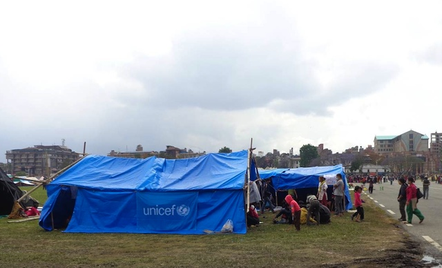 CHILD-FRIENDLY TENTS. UNICEF tents for children affected by the earthquake. Photo by UNICEF Nepal