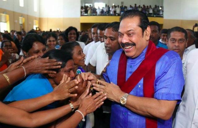 CHARISMA. Former president Mahinda Rajapaksa meets his constituents. Photo from Rajapaksa twitter account