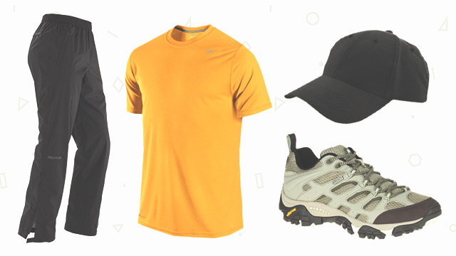 COMFORT FIRST. Aside from using hiking-appropriate clothes, make sure you can easily move around in what you'll be wearing