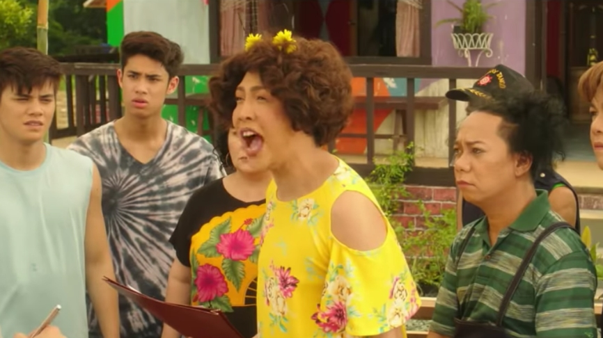 JOLLY BUT JUVENILE. The usual Vice Ganda jokes and gags entertain at first, but lose their freshness towards the end. Screenshot from ABS-CBN Star Cinemau00e2u0080u0099s Youtube account