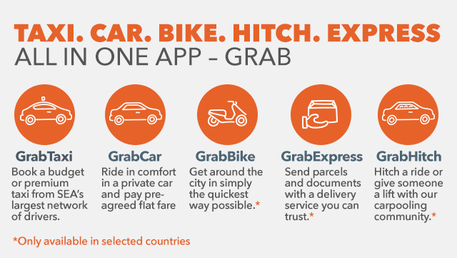 MORE THAN JUST CABS. Aside from GrabShare, here are other services from Southeast Asia's leading ride-hailing app. Data from Grab