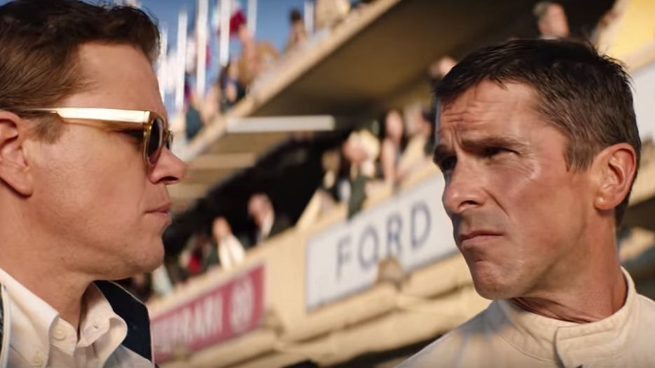 NUMBER ONE. 'Ford v. Ferrari' tops the North American box office with $31.5 million. Screenshot from trailer