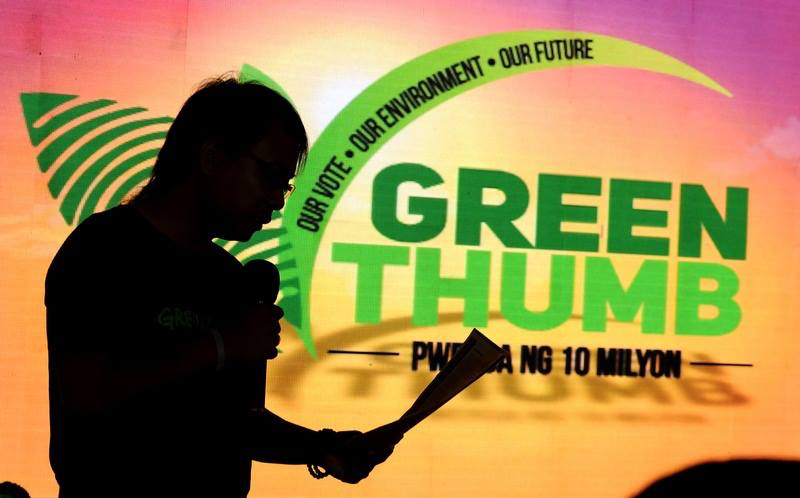 GREEN AGENDA. The Green Thumb Coalition hopes to get the commitment of national and local candidates to embrace a 'green electoral  platform'. Photo by Greenpeace Philippines