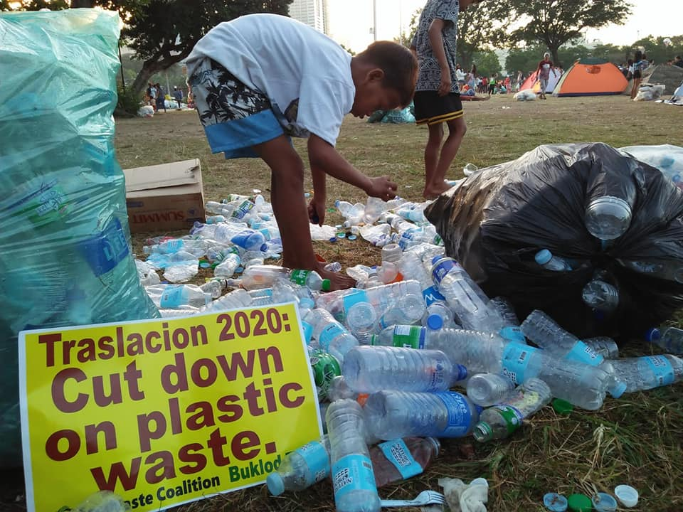 Tons of garbage were left by devotees along at Luneta Park after the image of Black Nazarene left Quirino Grandstand for Traslacion. Photo from EcoWaste Coalition Facebook page.