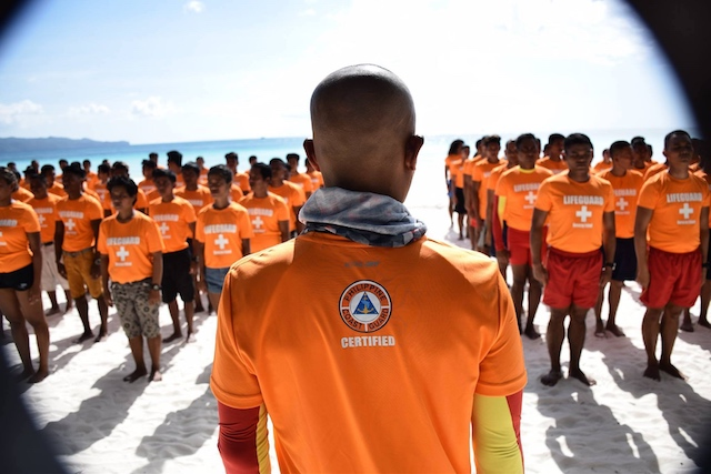 BORACAY LIFEGUARD TRAINING. The Philippine Coast Guard has trained lifeguards in time for the reopening of Boracay Island to tourists on October 26, 2018. Photo from the Facebook page of the Philippine Coast Guard
