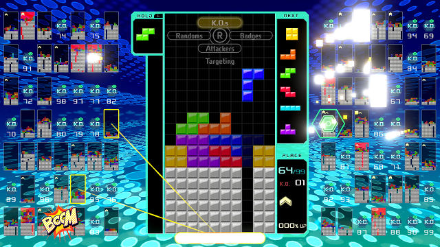 PUZZLE ROYALE. Fight for your right to be the last person stacking in 'Tetris 99.' Image from Nintendo.