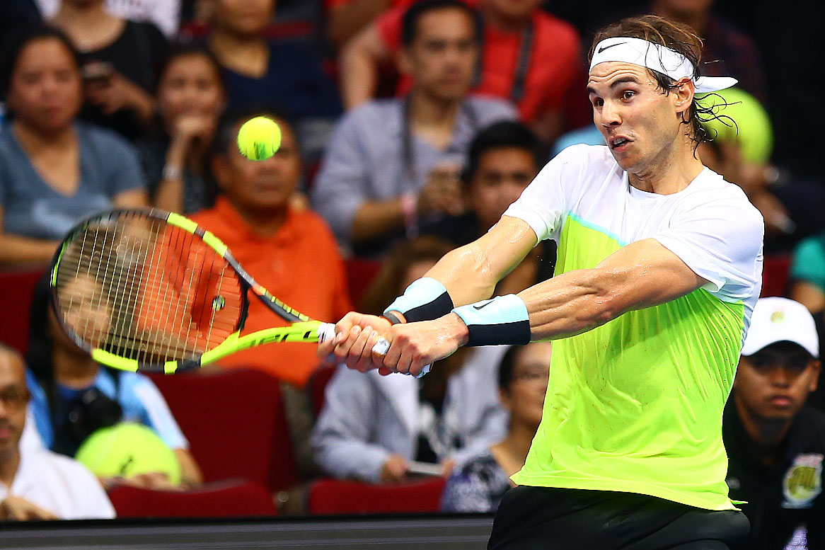 WORLD NO. 5. Rafael Nadal showed the Philippines why he's ranked among the best tennis players in the world. Photo by Josh Albelda/Rappler