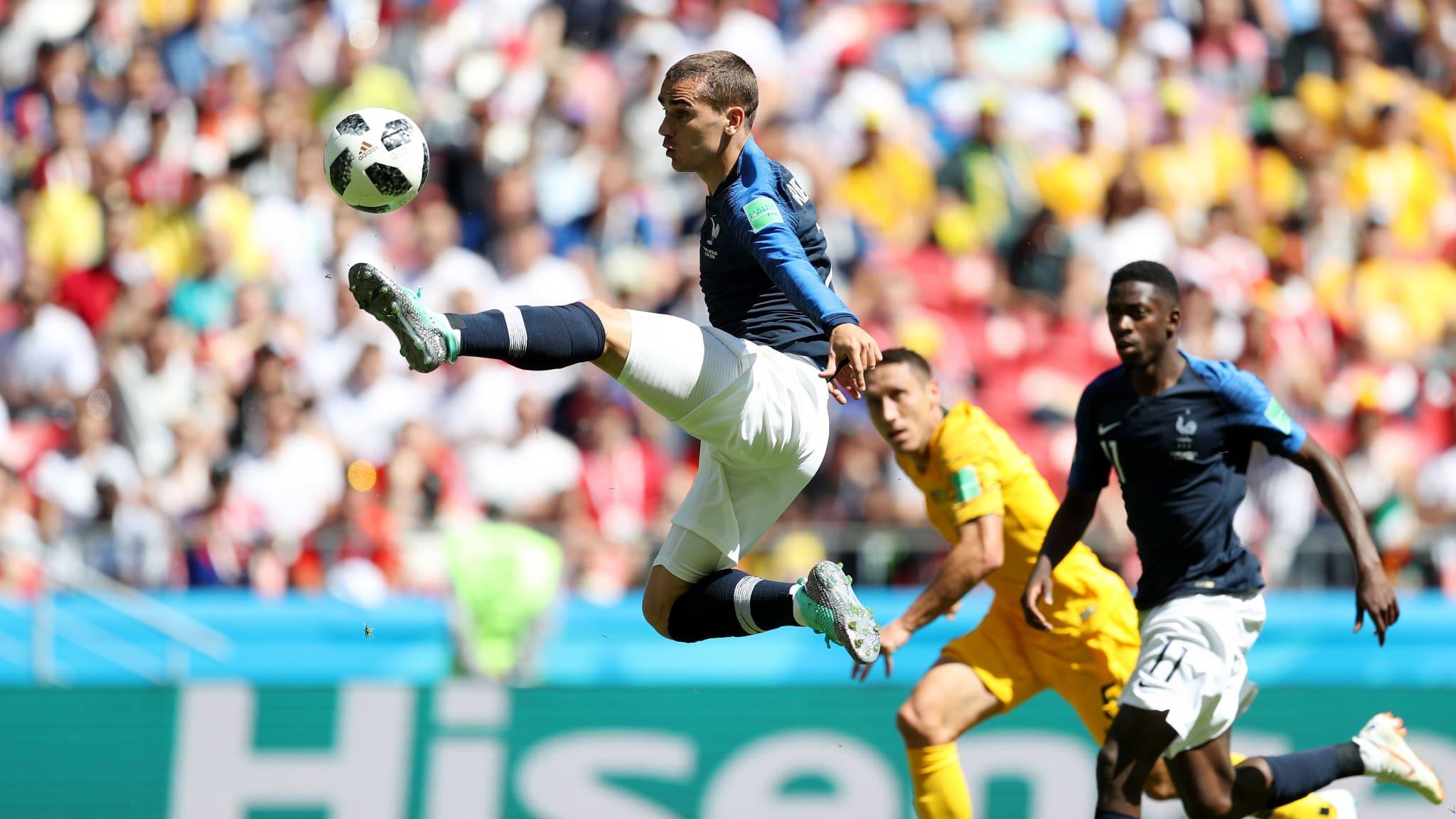 KERJA KERAS. Prancis harus kerja ekstra keras mengalahkan Australia. Foto dari FIFA/com