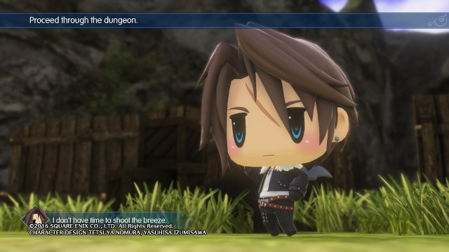 SQUALL SPEAKS. Squall Leonheart doesn't have time to shoot the breeze.