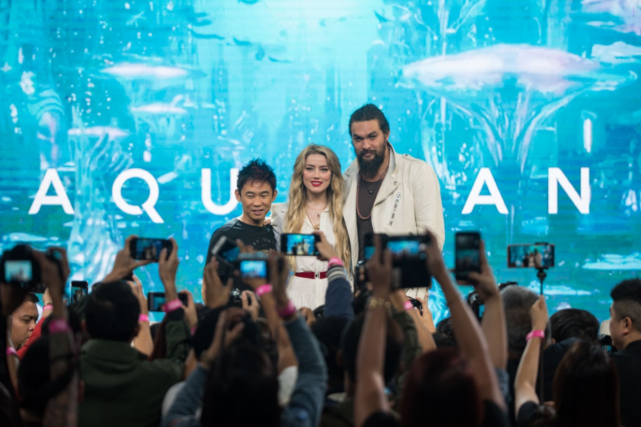WELCOME TO MANILA. 'Aquaman' director, James Wan, Jason Momoa, and Amber Heard are finally here. Photo by Lisa David/Rappler