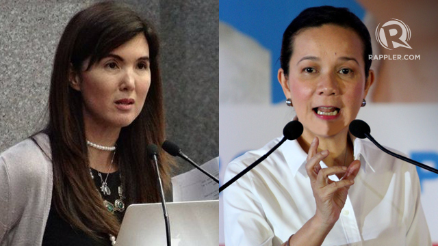 'MESSY' DOCUMENTS. Sources say Senator Pia Cayetano was originally expected to vote for the disqualification of Grace Poe. Rappler file photos