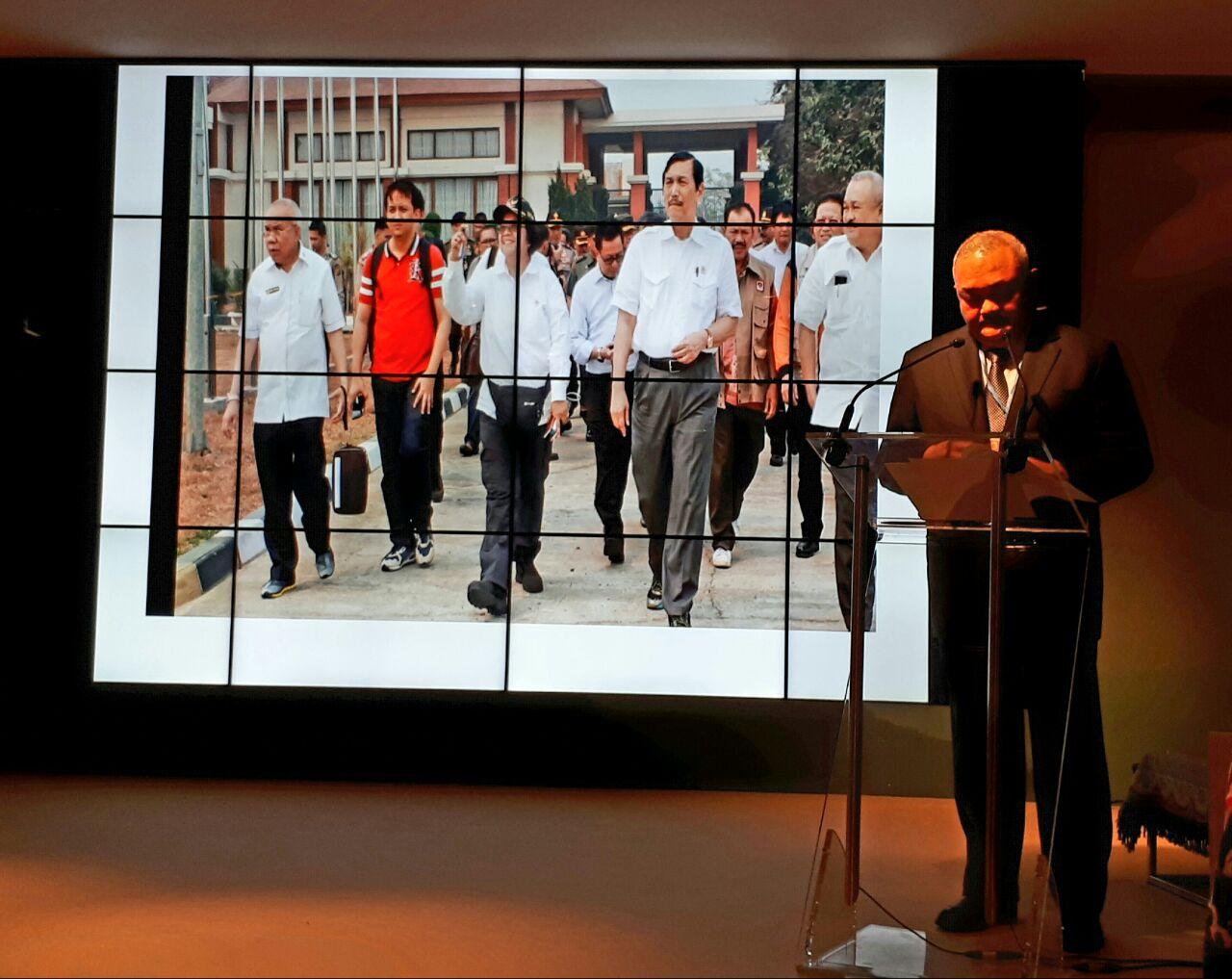Gubernur Sumsel Alex Noerdin di sesi Aksi Perubahan Iklim di COP 23, Bonn, Jerman (13/11/2017.) Foto sekretariat delri.
