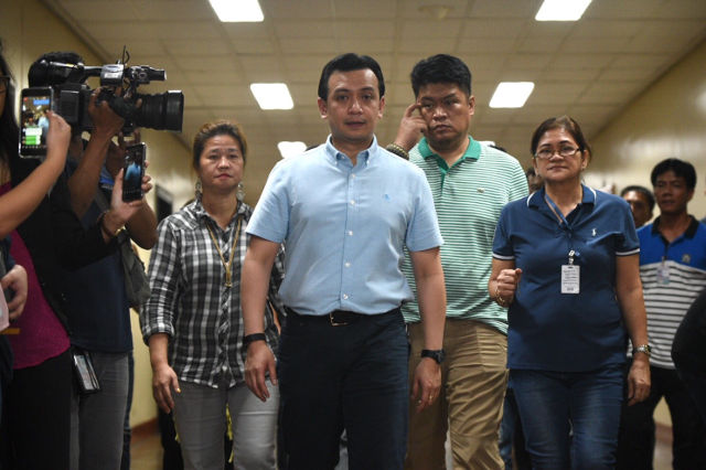 DAY ONE. Senator Antonio Trillanes on Tuesday, September 4, 2018, after he learned about the President's order voiding his amnesty. File photo by Alecs Ongcal/Rappler