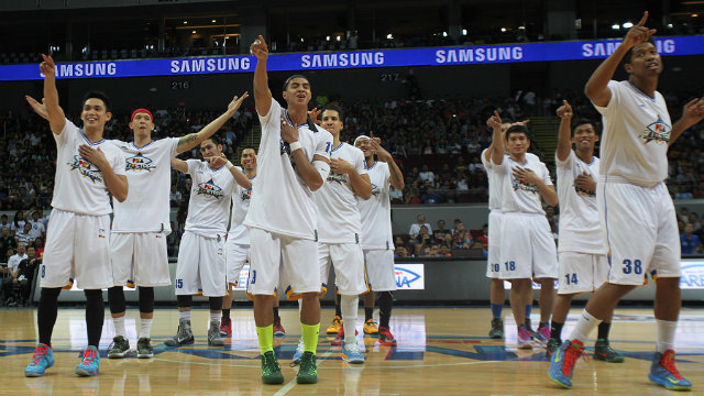 The PBA All-Stars sing along to the dance track