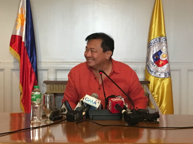 DUTERTE ALLY. Speaker Pantaleon Alvarez is a longtime ally of President Rodrigo Duterte and a strong critic of Senator Leila de Lima. File photo by Mara Cepeda/Rappler