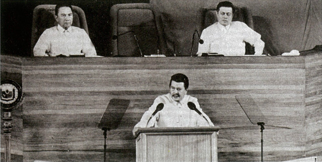 ERAP'S SONA. Former president Joseph Ejercito Estrada's first State of the Nation Address. Photo from Presidential Museum and Library official Tumblr account