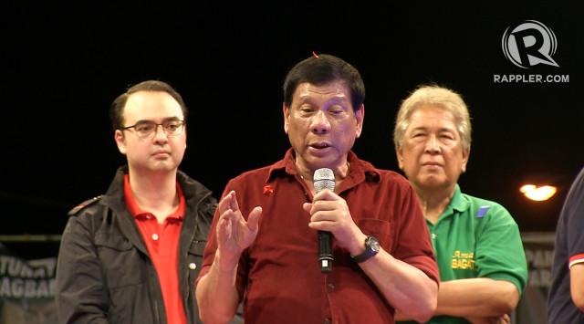 LECHON. Duterte warns criminals, 'Pag hindi mo ako napatay ngayon, 4 months from now, lelechonin ko talaga kayo.' Photo by Pia Ranada/Rappler