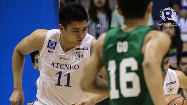 BIG SHOTS. Isaac Go's big baskets save Ateneo in crucial stretches. Photo by Josh Albelda/Rappler