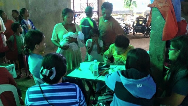 READY. A family gets assistance at an evacuation center in Naval, Biliran Island. Photo from Biliran Island Facebook page