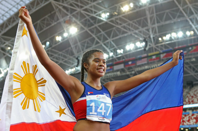 17-year-old Kayla Richardson is bringing a gold medal back home to SoCal. Photo by Singapore SEA Games Organising Committee/Action Images via Reuters