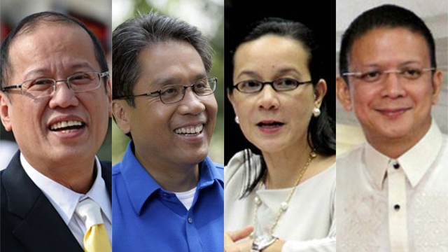 FALLING OUT. Aquino once met with Poe and Escudero in Malacau00f1ang in July to try to convince them to join LP instead. Two months later, the Poe-Escudero tandem publicized their bid to run in the 2016 elections. File photos by Rappler