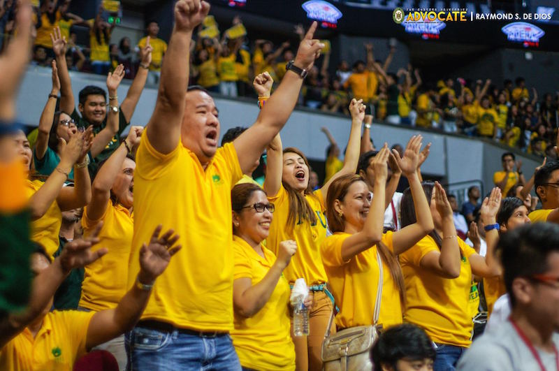 WILD. The FEU fans definitely outnumbered Ateneo in this match and they go wild when they finally see the Tamaraws' chances of clinching the finals spot.