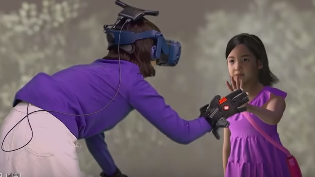 REUNION. A South Korean mother tearfully meets her deceased daughter again via virtual reality technology. Screenshot from MBCLife's Youtube page