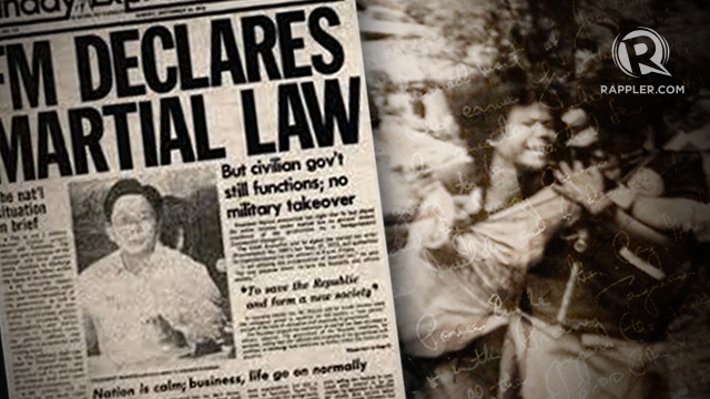 MARTIAL LAW. For almost 13 years since martial law was imposed, the Philippines suffered terribly from the brutal and corrupt Marcos dictatorship. Photo by Susan Quimpo